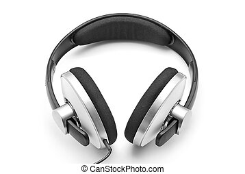 headphones - wire headphones isolated on white