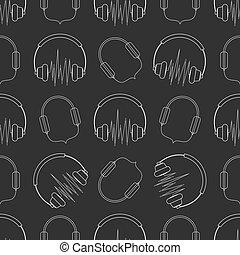 Headphones seamless pattern