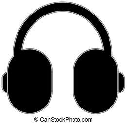 simple clip-art illustration of headphones
