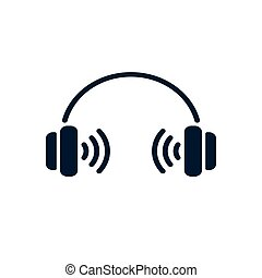 Headphones simple icon sound symbol