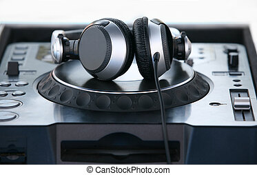 Headphones - Professional Headphones on the board dj