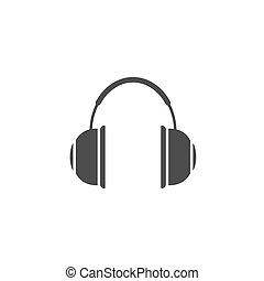 Headphones vector icon