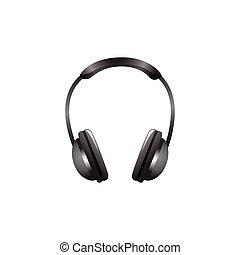 headphones . Vector Illustration Isolated on White Background