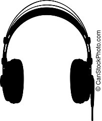 Headphones vector illustration on white background