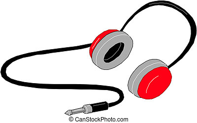 Headphones. Vector.