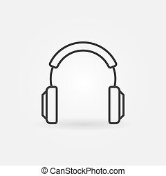 Headphones vector modern icon in thin line style