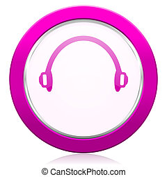 headphones violet icon
