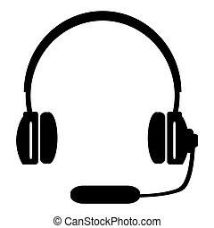 Headphones with a microphone headse