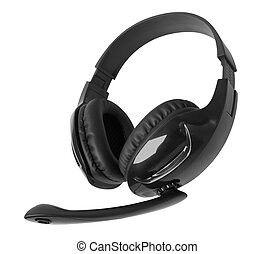 Headphones with a microphone