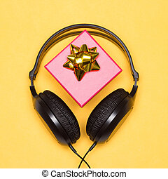 Headphones with gift box - music as gift