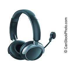 Headphones with Mic isolated