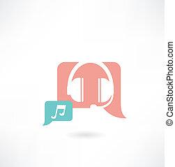 headphones with music icon