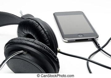 Headphones with player