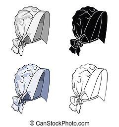 Headpiece, single icon in cartoon style.Headpiece, vector symbol stock illustration web.