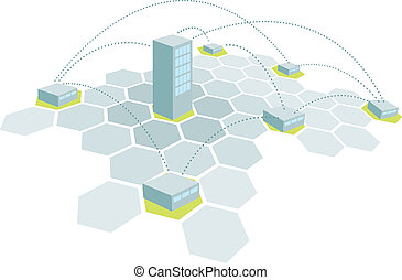 Headquarters and branches / Building office network
