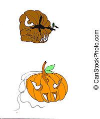 Heads for halloween