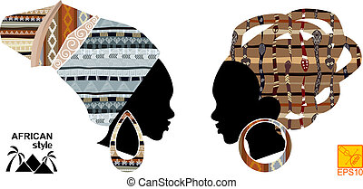 Heads of an African girls