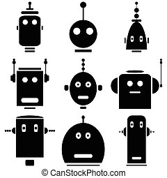 heads., robots, vinatge