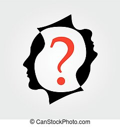 heads with a question mark