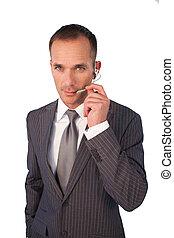 headset , επιχειρηματίας , λόγια
