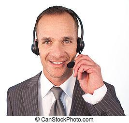 headset , λόγια , επιχειρηματίας