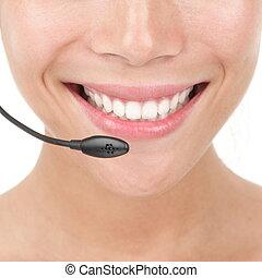 Headset closeup