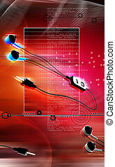 Headset - Digital illustration of Headset in colour...