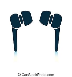 Headset icon. Shadow reflection design. Vector illustration.