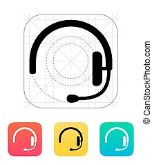 Headset icon. Vector illustration.