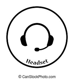 Headset icon Vector illustration