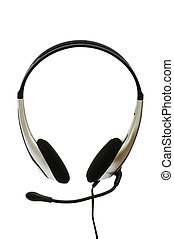 Headset isolated on the white background