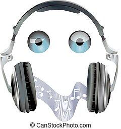 headset, olhos