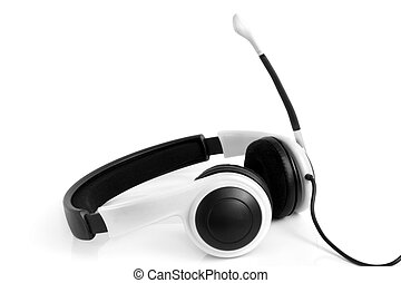 Headset on the white background