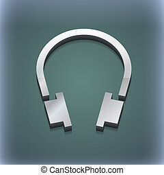 headsets icon symbol. 3D style. Trendy, modern design with space for your text . Raster