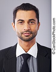 Headshot of a Handsome Middle Eastern Businessman - Closeup...