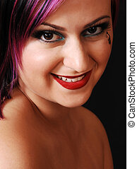 Headshot of an beautiful woman.