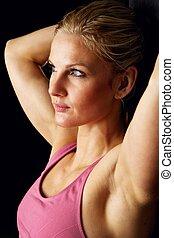 Headshot of Beautiful Fitness Model