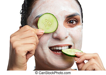 headshot of girl with mask