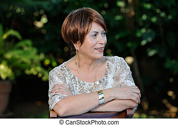 headshot of old woman