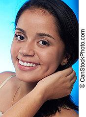 headshot of pretty hispanic girl