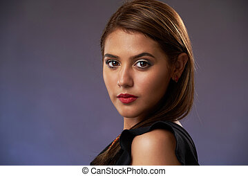 Headshot of pretty woman