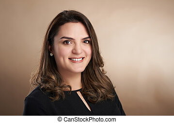Headshot portrait of young woman