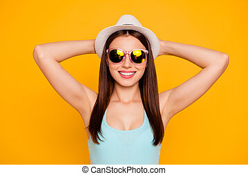 headshot, prospekt, fotografia, cheerfu, nowoczesny, closeup, portret, piękny