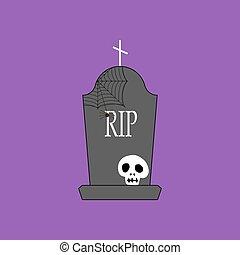 headstone, そして, 頭骨