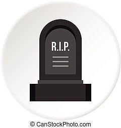 headstone, アイコン, 円