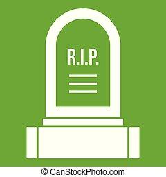 headstone, アイコン, 緑