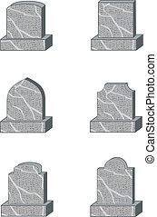 headstone shapes - six standard granite gravestone or...