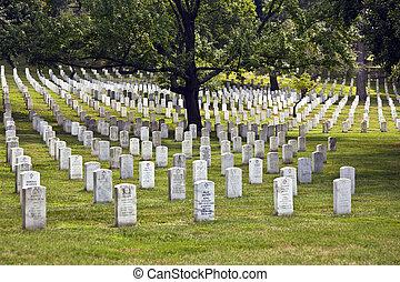 Headstones at the Arlington national Cemetery - Gravestones...