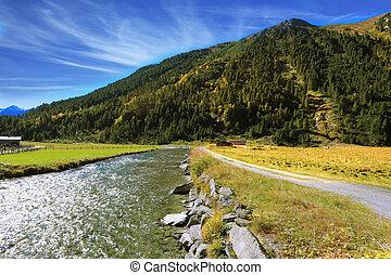 Headwaters of Krimml waterfalls