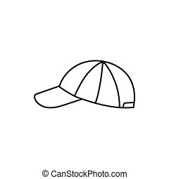 Headwear in a sporty style. Cap. Vector illustration isolated on a white